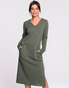 Zielona sukienka Be w stylu casual