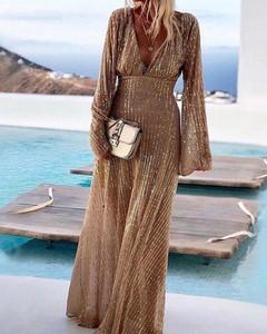 Sukienka Kendallme trapezowa z długim rękawem