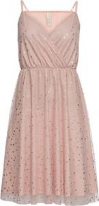Sukienka bonprix BODYFLIRT boutique rozkloszowana