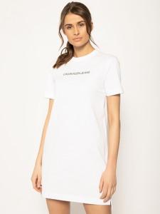 Sukienka Calvin Klein mini z krótkim rękawem