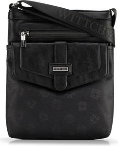 Czarna torebka Wittchen w stylu casual średnia
