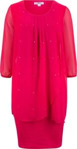Sukienka bonprix bpc bonprix collection z szyfonu