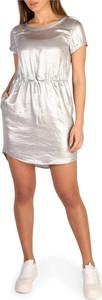 Srebrna sukienka Calvin Klein mini