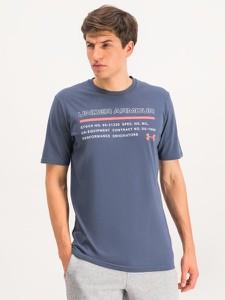 Niebieski t-shirt Under Armour z krótkim rękawem