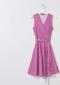 Fioletowa sukienka Mohito mini z dekoltem w kształcie litery v