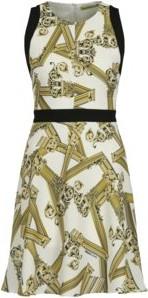Sukienka Versace Jeans bez rękawów z okrągłym dekoltem w stylu casual