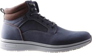 Granatowe buty zimowe Lanetti sznurowane