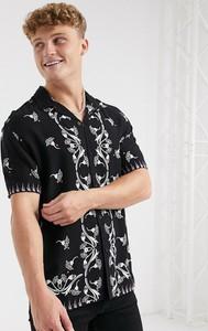 Koszula topman z krótkim rękawem z nadrukiem