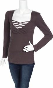 Brązowa bluzka Ligne Maternite w stylu casual