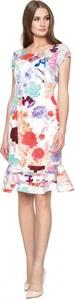 Sukienka POTIS & VERSO midi z krótkim rękawem z okrągłym dekoltem
