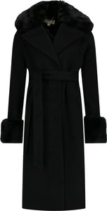 Czarny płaszcz Michael Kors z wełny