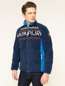 Niebieska kurtka Napapijri z plaru w młodzieżowym stylu
