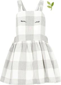 Sukienka dziewczęca Name it z bawełny w krateczkę