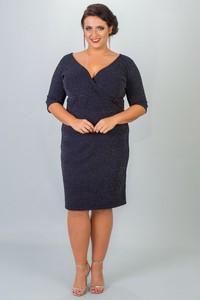Sukienka KARKO ołówkowa z długim rękawem midi