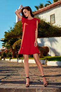 02bf118bf9 czerwona sukienka wizytowa - stylowo i modnie z Allani
