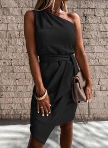Sukienka Sandbella asymetryczna bez rękawów mini