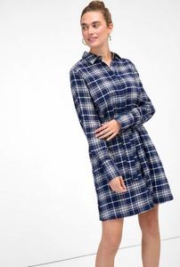 Granatowa sukienka ORSAY mini w stylu casual z długim rękawem