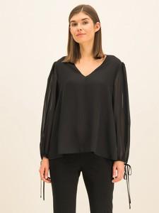 Czarna bluzka Liu-Jo z dekoltem w kształcie litery v