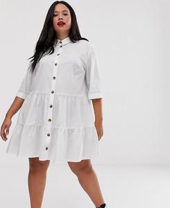 Sukienka Asos koszulowa z długim rękawem