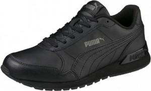 Czarne buty Puma sznurowane z płaską podeszwą