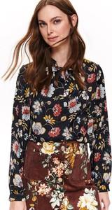 Bluzka Top Secret ze sznurowanym dekoltem z długim rękawem z tkaniny