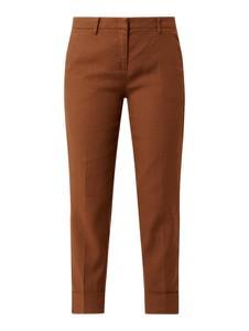 Brązowe spodnie Cambio z bawełny