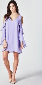 Sukienka Guess z długim rękawem z tkaniny