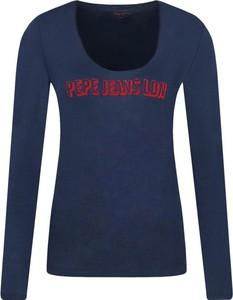 Bluzka Pepe Jeans z długim rękawem z okrągłym dekoltem