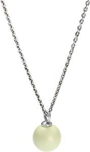Peani Naszyjnik srebrny z pastelowa perłą Swarovski zielony