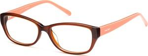 Pomarańczowe okulary damskie Anne Marii