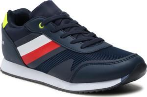 Granatowe buty sportowe dziecięce Tommy Hilfiger sznurowane