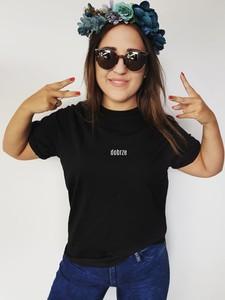 Czarna bluzka Time For Fashion z bawełny w młodzieżowym stylu