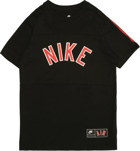 Czarna koszulka dziecięca Nike Sportswear z krótkim rękawem