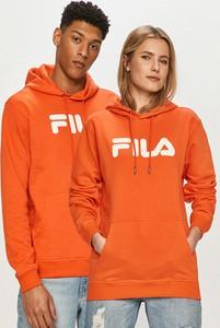 Pomarańczowa bluza Fila w sportowym stylu z bawełny