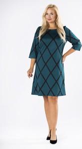 Zielona sukienka Ptakmoda.com mini w stylu casual z długim rękawem