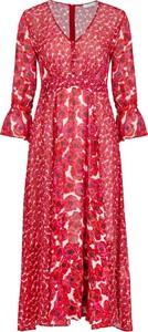 Różowa sukienka iBlues z długim rękawem w stylu casual maxi