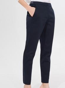 Niebieskie spodnie Mohito w stylu klasycznym z bawełny
