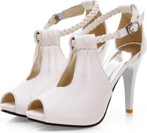 23fab9bc11a32 białe sandały szpilki. - stylowo i modnie z Allani