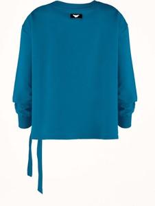 Turkusowa bluza Byinsomnia w młodzieżowym stylu z dresówki