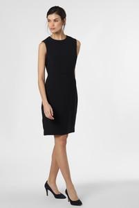 Czarna sukienka Ted Baker mini bez rękawów z okrągłym dekoltem