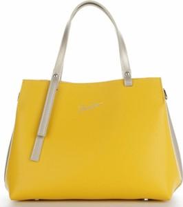 Żółta torebka VITTORIA GOTTI do ręki średnia