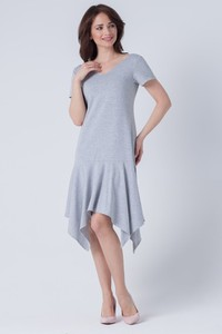 Sukienka butik-choice.pl z krótkim rękawem z okrągłym dekoltem