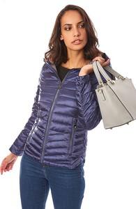Niebieska kurtka Snowie Collection w stylu casual krótka