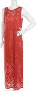 Czerwona sukienka Sears maxi prosta