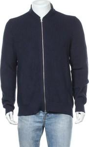 Niebieski sweter Review w stylu casual ze stójką