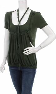 Zielona bluzka Cassidi z krótkim rękawem