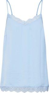 Niebieska bluzka Vila z dekoltem w kształcie litery v w stylu casual