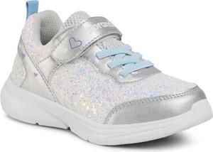 Srebrne buty sportowe dziecięce Sprandi dla dziewczynek sznurowane