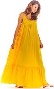 Sukienka Awama na ramiączkach oversize w stylu boho