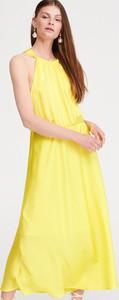 Sukienka Reserved maxi w stylu casual z dekoltem halter